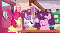 Apple Bloom excited to have Sugar Belle as family S9E23