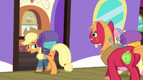 """Applejack """"somepony's in an awful quick hurry"""" S6E17"""