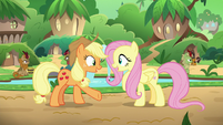 "Applejack and Fluttershy ""me, too!"" S8E23"