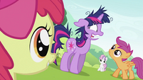 CMC looking at Twilight Sparkle S2E03