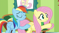 """Fluttershy and Rainbow """"you can pass the test"""" S6E11"""