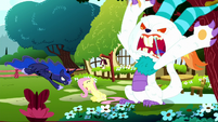 Giant Angel about to attack Fluttershy S5E13