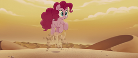 Pinkie Pie pops up out of the sand MLPTM