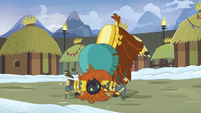 Prince Rutherford smashes log with his face S7E11