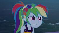 Rainbow looks embarrassed at Twilight EGSB