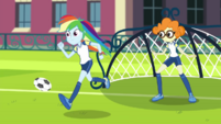 Rainbow starts running down the field CYOE2a
