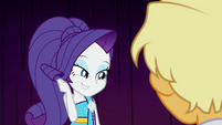 Rarity shyly brushes hair out of her face EGSB