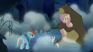 S06E15 Niedźwiedź przytula przestraszoną Fluttershy