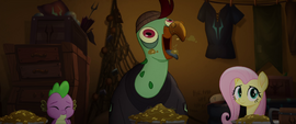 Squabble squawking with his mouth full MLPTM