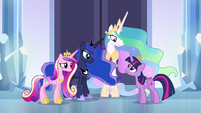 Twilight talking to other princesses S4E25
