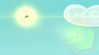 Celestia and Luna high in the sky S9E13