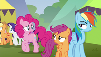 """Pinkie Pie """"sorry for making us late"""" S8E20"""