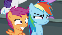 Rainbow Dash thinks the show is lame S8E20