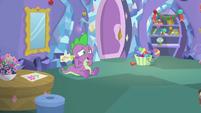 Spike despairing in his bedroom MLPBGE