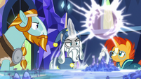 Star Swirl teleports his map and quill away S7E26