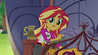 """Sunset Shimmer """"that was weird back there"""" EG4"""
