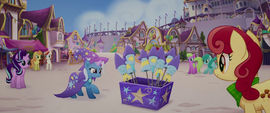 Trixie next to a box of fireworks MLPTM