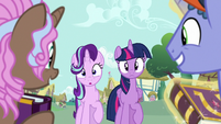Twilight and Starlight run into collector ponies S7E14