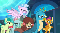 Young Six glaring at Cozy Glow S8E26