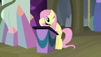 Fluttershy winking at Pinkie Pie S8E7