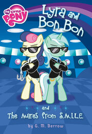 Lyra and Bon Bon and the Mares from SMILE book cover.jpg