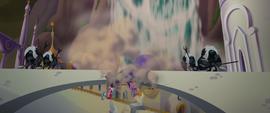 Mane Six and Spike fall through destroyed bridge MLPTM