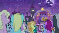 Ponies filling the Canterlot stadium S9E17
