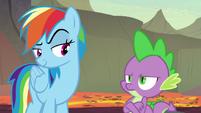 Rainbow impressed by Spike's attitude S7E25