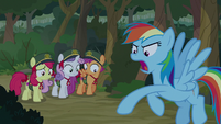 Rainbow tosses map on the ground S9E13