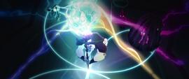 Storm King draining the magic of Canterlot MLPTM