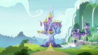 Exterior view of Castle and School of Friendship S8E19