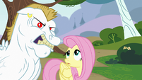 Fluttershy looking at Bulk Biceps S4E10