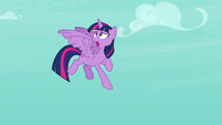 Twilight Sparkle calling out to Spike S8E11