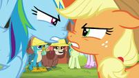 AJ and Rainbow arguing muzzle-to-muzzle S8E9