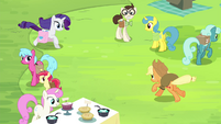 AJ and Rarity gallop toward each other S4E22