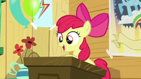 Apple Bloom at the podium S5E04