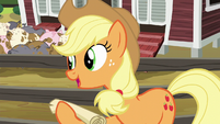 Applejack --I should go over it with you-- S6E10