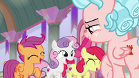 Crusaders excited to help Cozy Glow S8E26