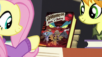 Fluttershy about to buy a Daring Do book MLPBGE