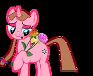 Star Heart com um buquê de flores