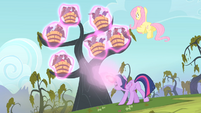 Twilight casting a spell on the bats S4E07