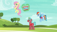 Fluttershy and first tryout unicorn ready to play S6E18