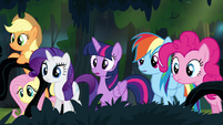 Main ponies find A.K. Yearling's house S4E04