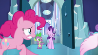 Pinkie Pie chases after Flurry Heart S6E2