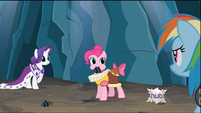 Pinkie Pie with rock in mouth S2E11
