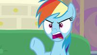 "Rainbow Dash ""Rarity's hat was blocking"" S8E17"