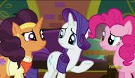 S06E12 Rarity rozmawia z Pinkie Pie i Saffron Masalą