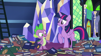 """Spike """"looking for a good bedtime story"""" S8E24"""