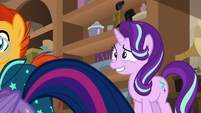 Starlight Glimmer grinning awkwardly S7E24