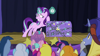 Starlight listening inside the trunk S8E19